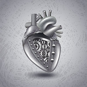 Metal Heart with Gears